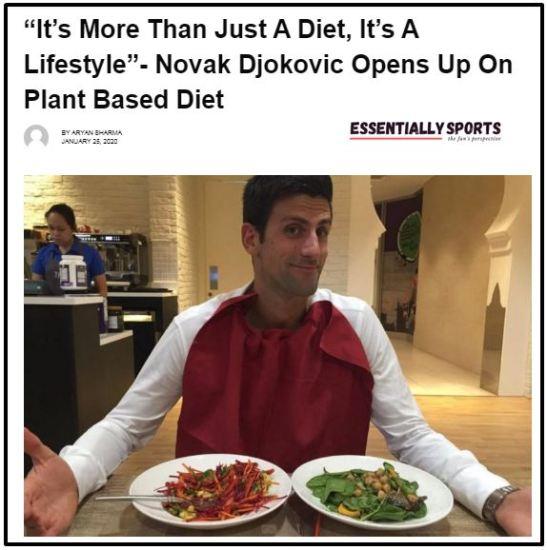 Djokovic a vegan